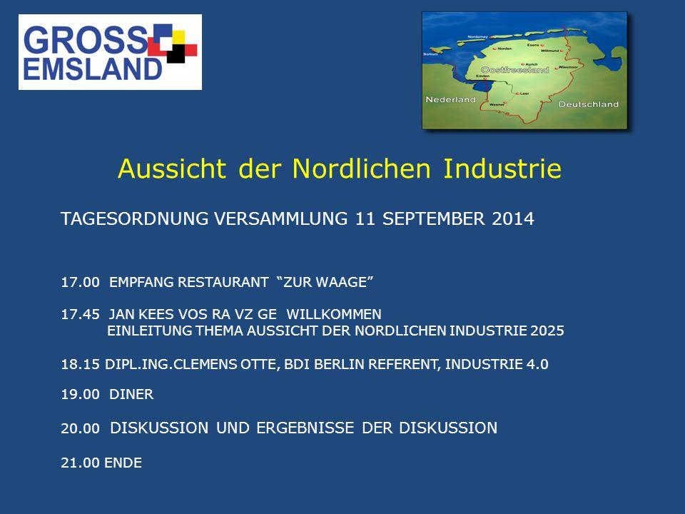 Industrie 4.0 ändert die (Nord West) Deutsche wie die (Nord) Niederländische Industrie Das neue Industrie 4.0.