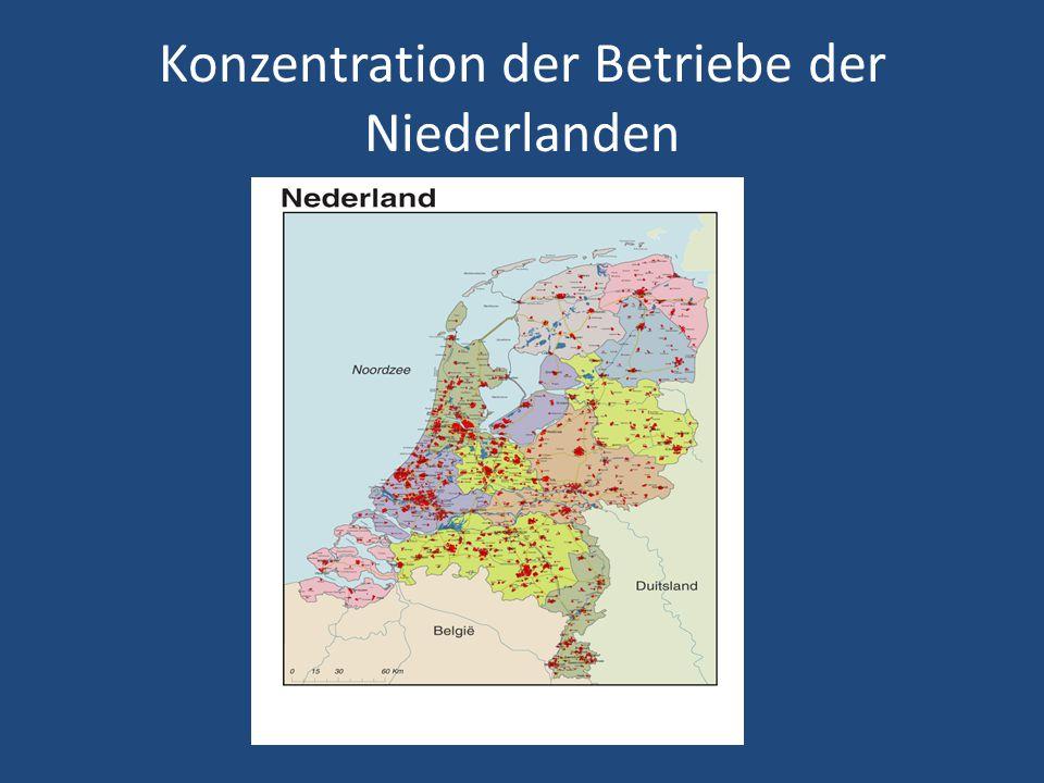 Niedersachsen Konzentration der Betriebe