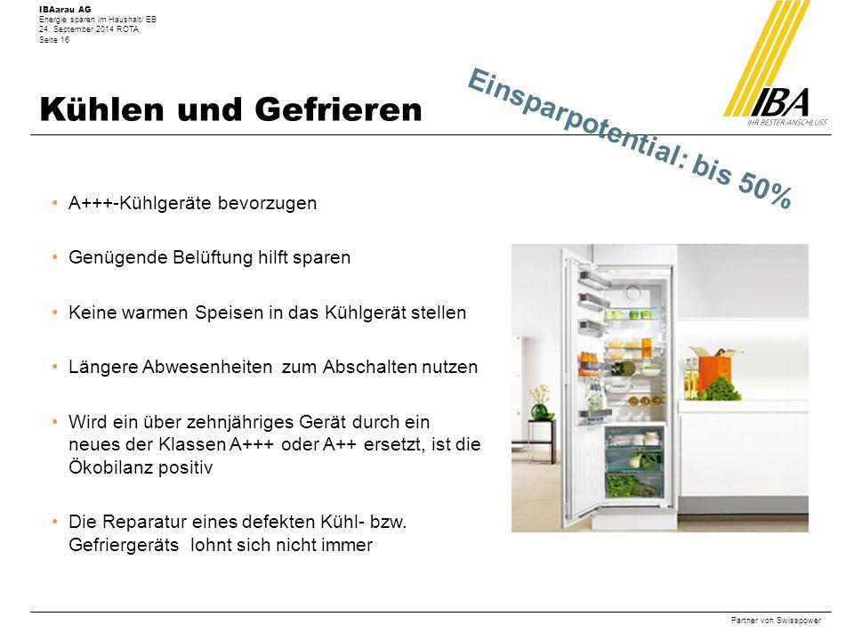 IBAarau AG Energie sparen im Haushalt/ EB 24.