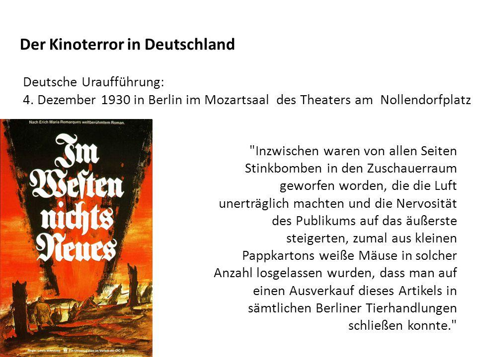 Der Kinoterror in Deutschland Deutsche Uraufführung: 4.