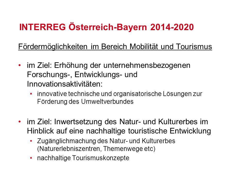 Fördermöglichkeiten im Bereich Mobilität und Tourismus im Ziel: Erhöhung der unternehmensbezogenen Forschungs-, Entwicklungs- und Innovationsaktivität