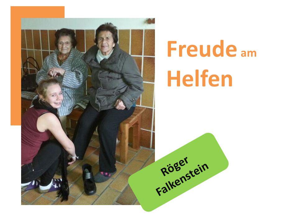 Röger Falkenstein Freude am Helfen
