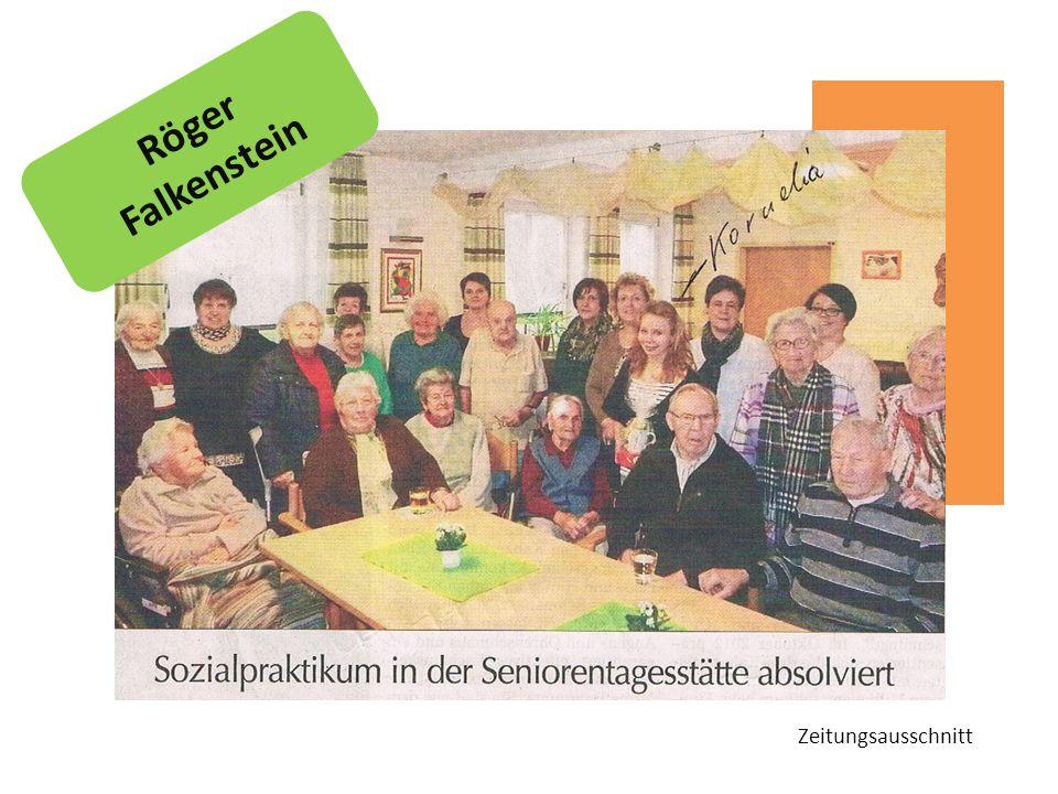 Zeitungsausschnitt Röger Falkenstein