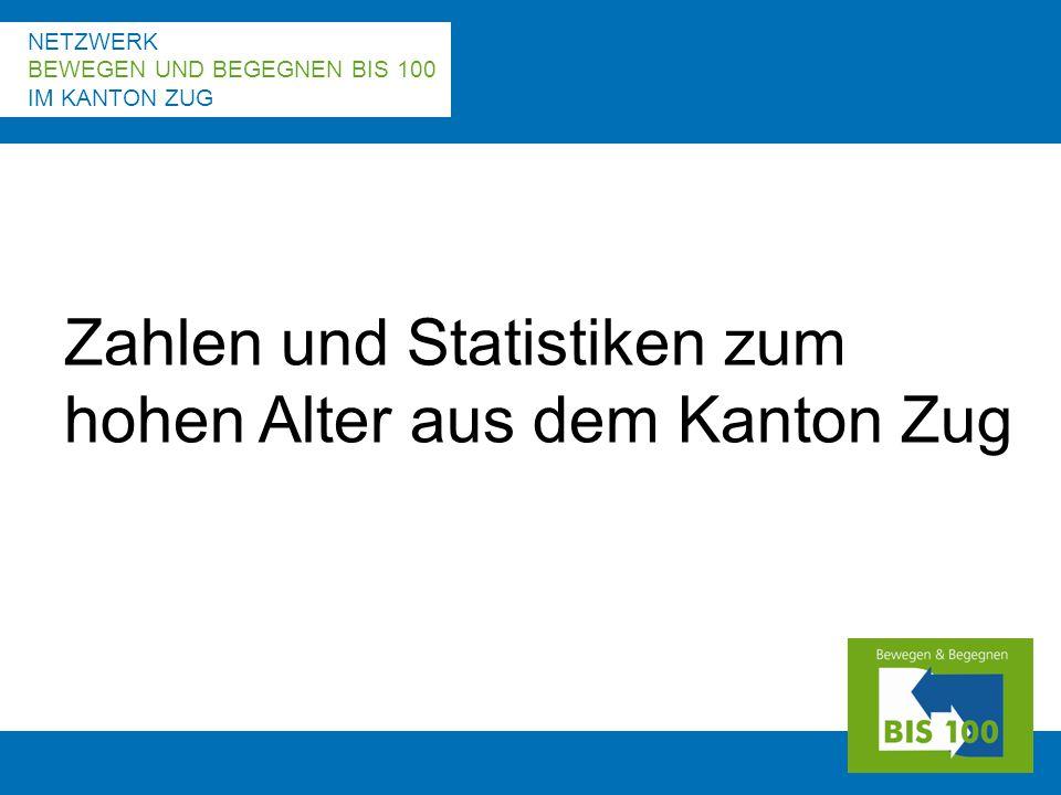 NETZWERK BEWEGEN UND BEGEGNEN BIS 100 IM KANTON ZUG Zahlen und Statistiken zum hohen Alter aus dem Kanton Zug