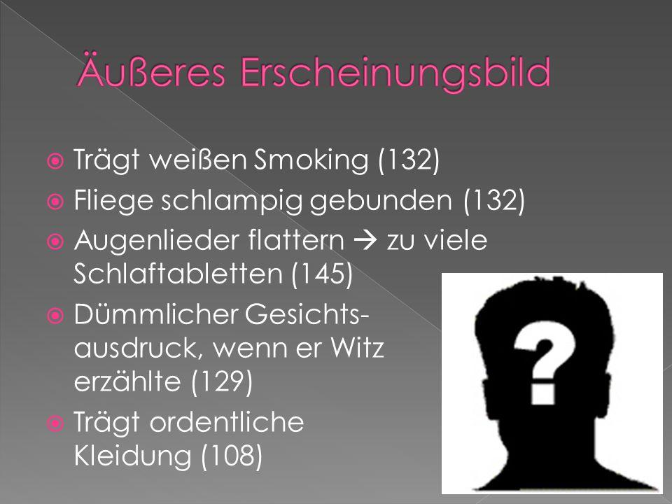 """ Beiger Porsche  innen drin sieht er aus wie ein VW-Käfer, Sitze zerschlissen, Halbfertigkeit, Holprigkeit (113)  """"Rollos Wohnung ist in Bogenhausen und sie ist riesen groß[...] (116)  Viele """"Freunde  besitzt alles im Überfluss  mehr als er benötigt  mehr als gut für ihn ist"""