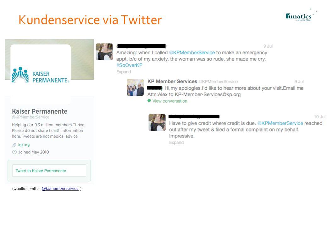Kundenservice via Twitter 20 (Quelle: Twitter @kpmemberservice )@kpmemberservice