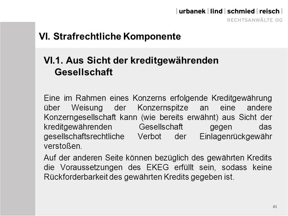 VI.Strafrechtliche Komponente VI.1.