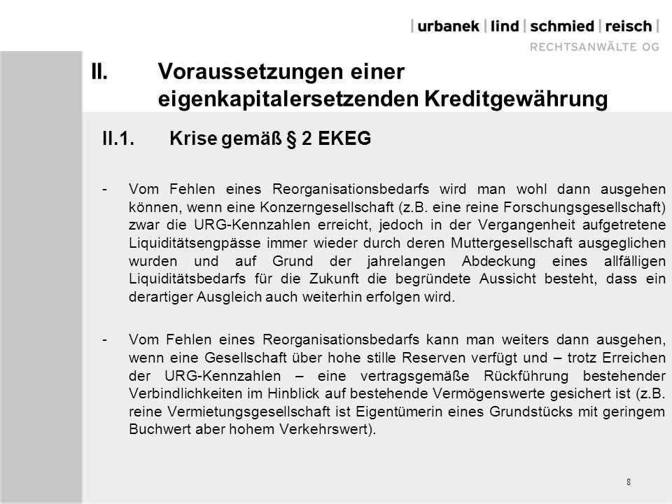 V.Verhältnis zwischen Ansprüchen auf Grundlage des EKEG und Ansprüchen aus Einlagenrückgewähr V.4.