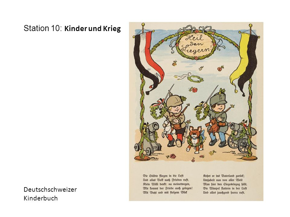Station 10: Kinder und Krieg Deutschschweizer Kinderbuch