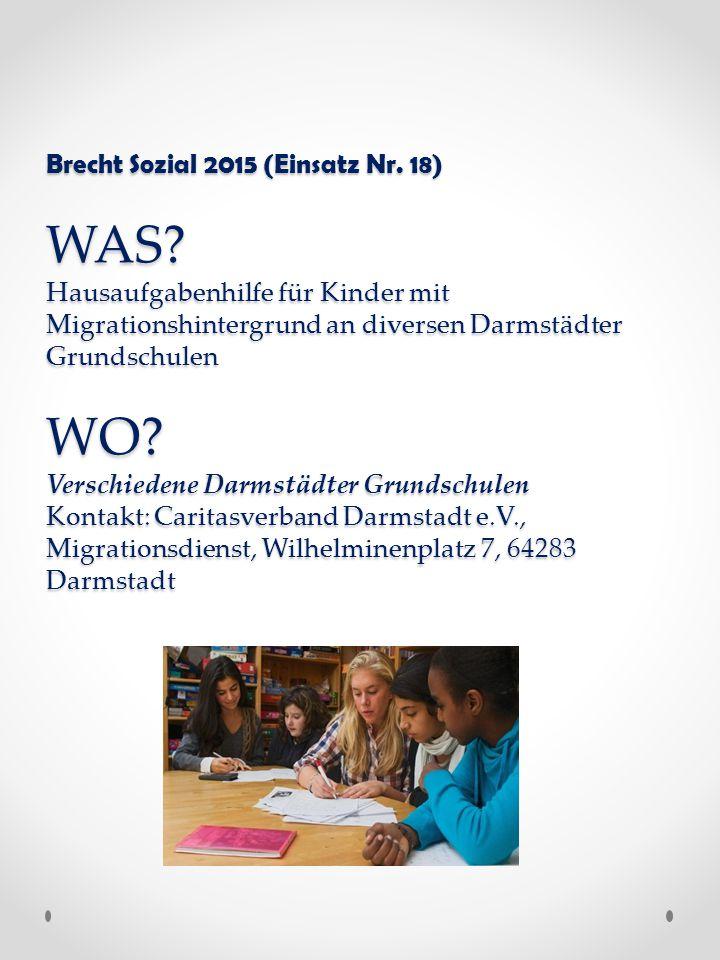 Brecht Sozial 2015 (Einsatz Nr. 18) WAS.