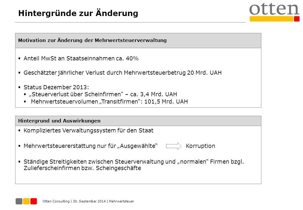 Otten Consulting | September 2014 | ПДВ.Електронне адміністрування.