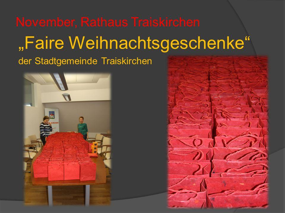 """November, Rathaus Traiskirchen """"Faire Weihnachtsgeschenke der Stadtgemeinde Traiskirchen"""