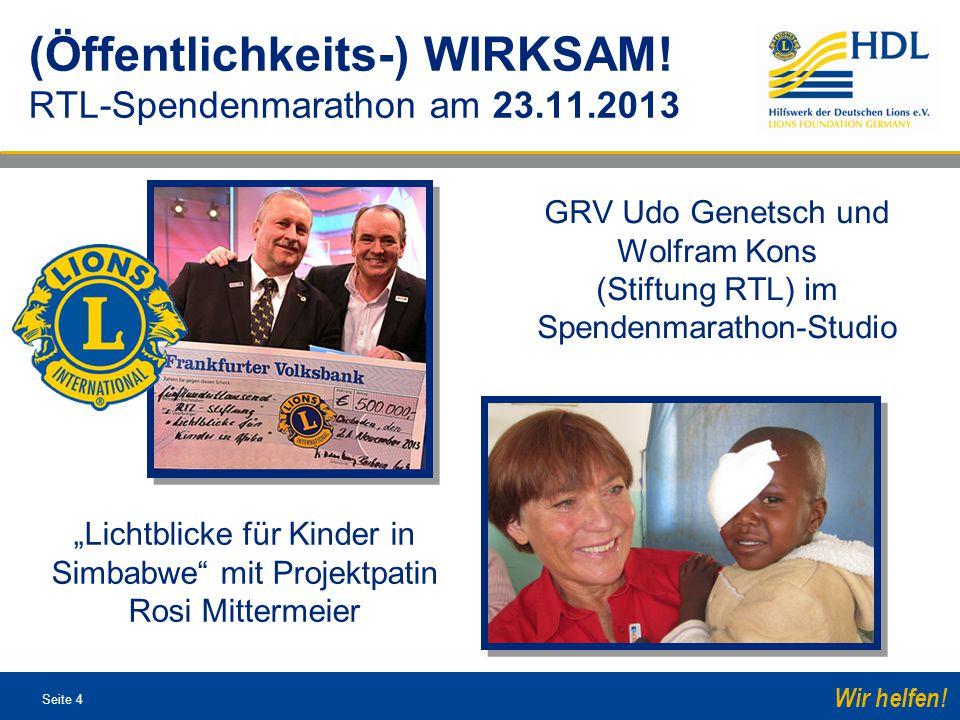 Seite 15 Wir helfen.Ca. € 1,5 Mio.