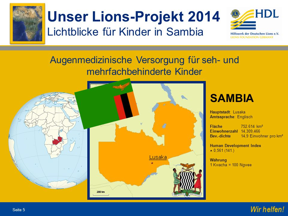 """Seite 26 Wir helfen.Unser Lions-Projekt 2013 Spenden Sie """"Lichtblicke ."""