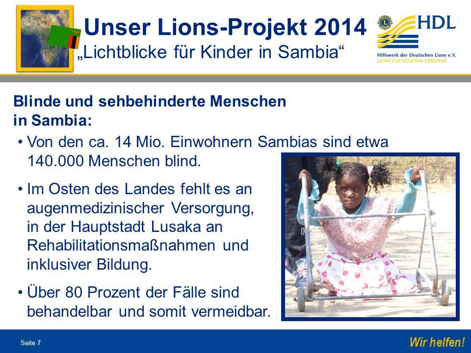 Seite 28 Wir helfen.Spendenkonto: Hilfswerk der Deutschen Lions e.V.