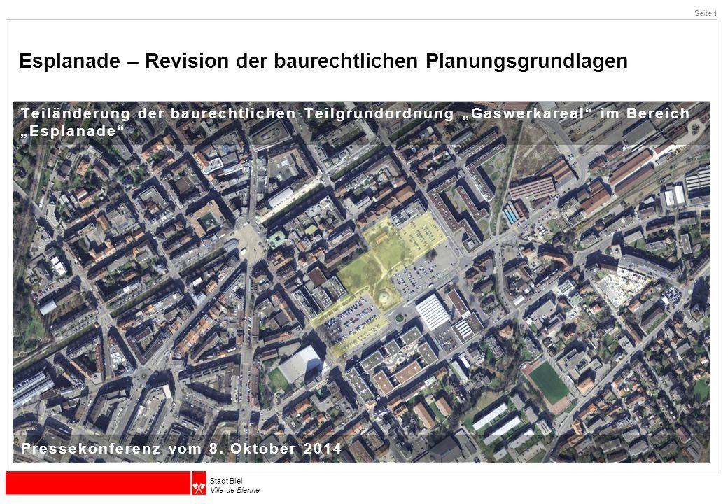 Stadt Biel Ville de Bienne Danke für Ihre Aufmerksamkeit Seite 12