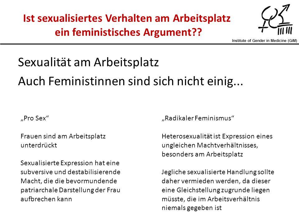 """Institute of Gender in Medicine (GiM) Sexualität am Arbeitsplatz Auch Feministinnen sind sich nicht einig... """"Pro Sex"""" Frauen sind am Arbeitsplatz unt"""