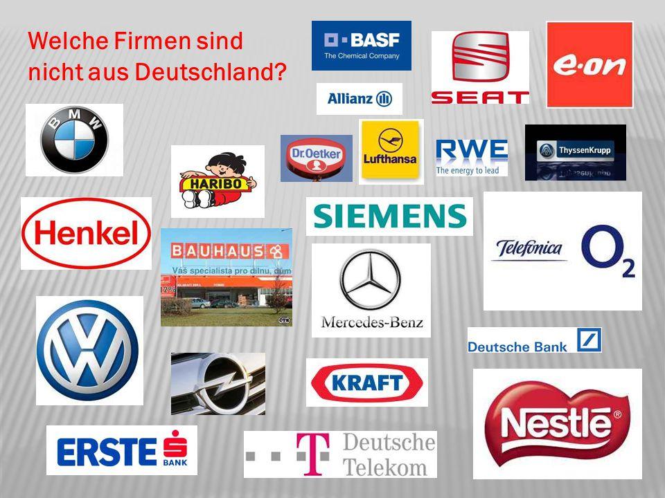 Welche Firmen sind nicht aus Deutschland?