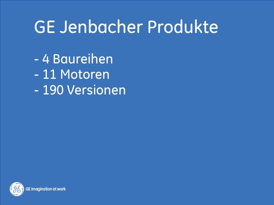 3 / GE Jenbacher / Regelenergie 13.-14. Okt. 2014 Copyright 2014, General Electric Company GE Jenbacher Produkte - 4 Baureihen - 11 Motoren - 190 Vers
