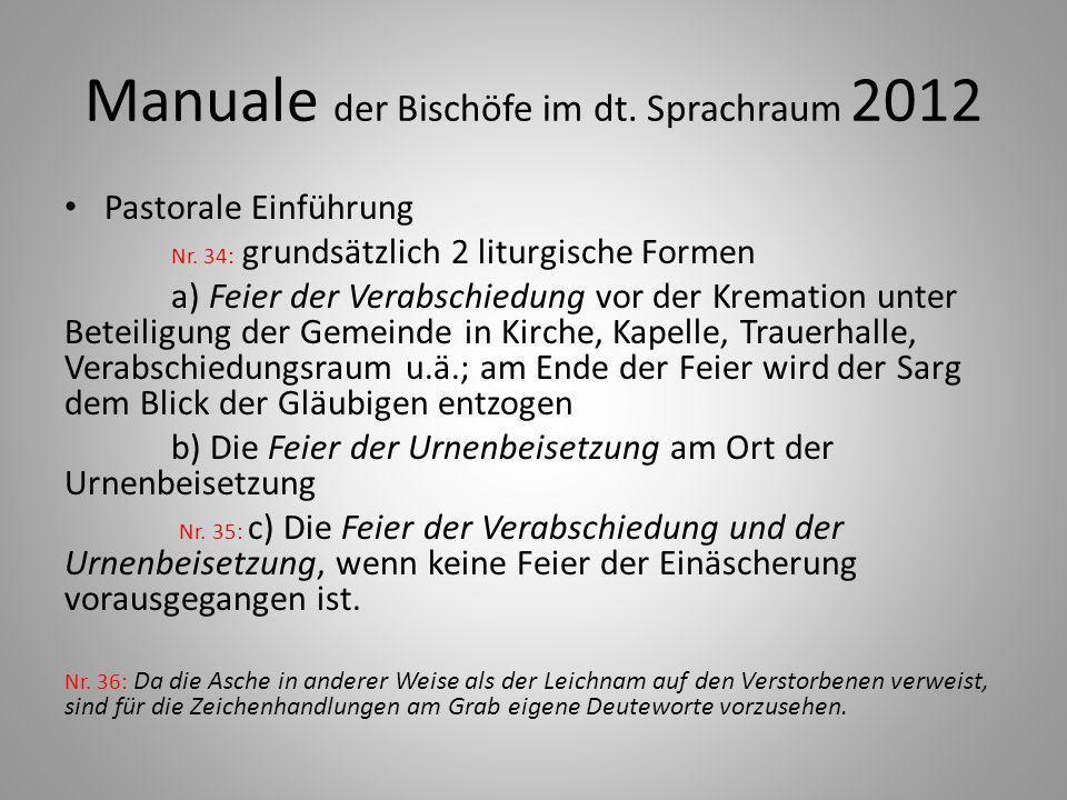Manuale der Bischöfe im dt.Sprachraum 2012 Pastorale Einführung Nr.