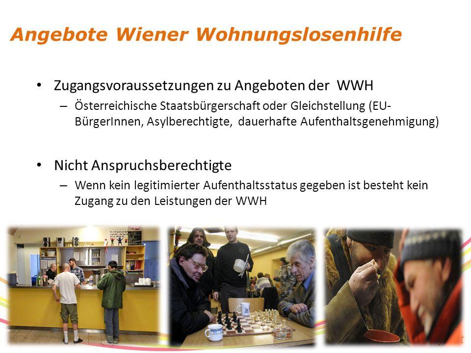 www.suchthilfe.at Zugangsvoraussetzungen zu Angeboten der WWH – Österreichische Staatsbürgerschaft oder Gleichstellung (EU- BürgerInnen, Asylberechtig