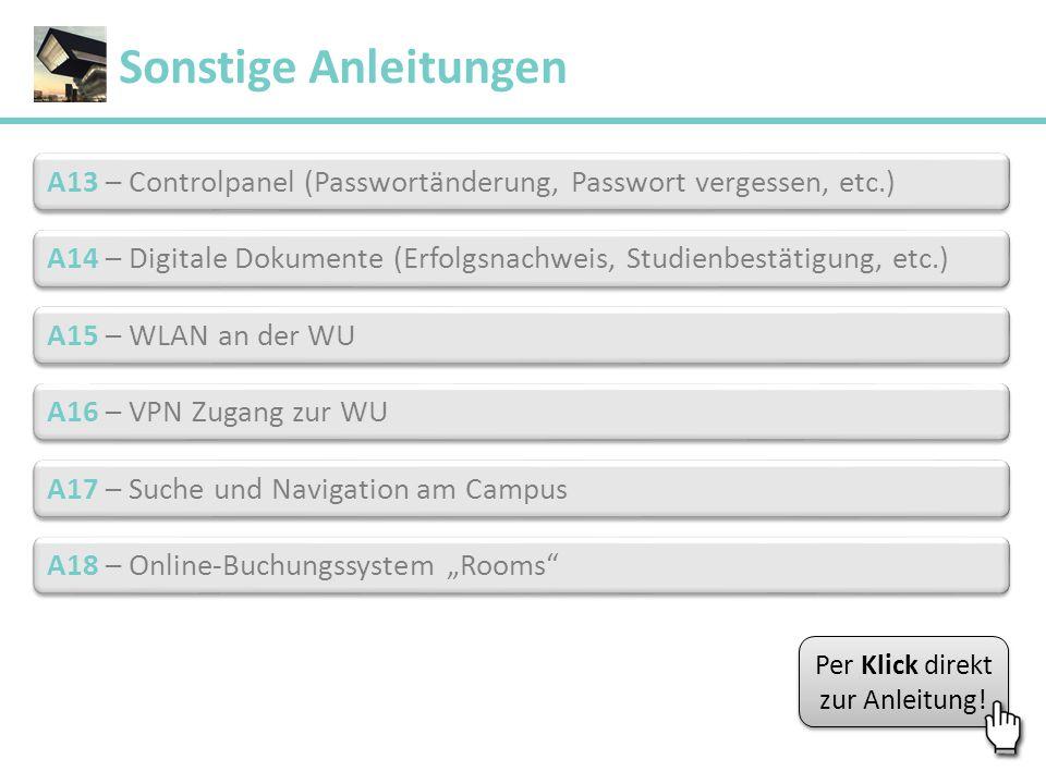 A13 – Controlpanel (Passwortänderung, Passwort vergessen, etc.) A13 – Controlpanel (Passwortänderung, Passwort vergessen, etc.) A14 – Digitale Dokumen