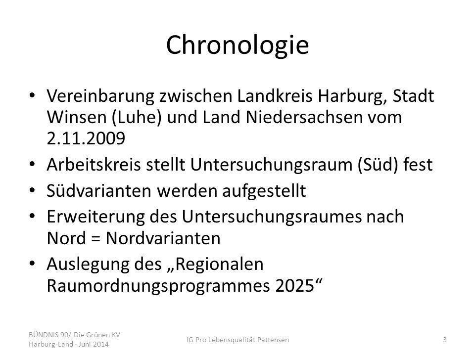 Chronologie Vereinbarung zwischen Landkreis Harburg, Stadt Winsen (Luhe) und Land Niedersachsen vom 2.11.2009 Arbeitskreis stellt Untersuchungsraum (S