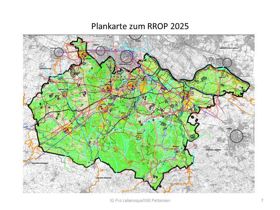 Plankarte zum RROP 2025 IG Pro Lebensqualität Pattensen7