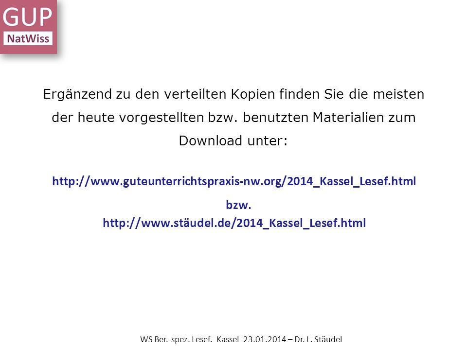 Methodenwerkzeuge WS Ber.-spez.Lesef. Kassel 23.01.2014 – Dr.