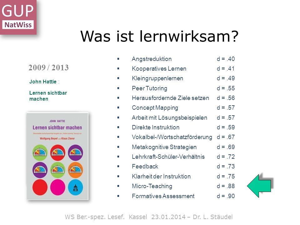 Arbeiten mit Texten WS Ber.-spez.Lesef. Kassel 23.01.2014 – Dr.