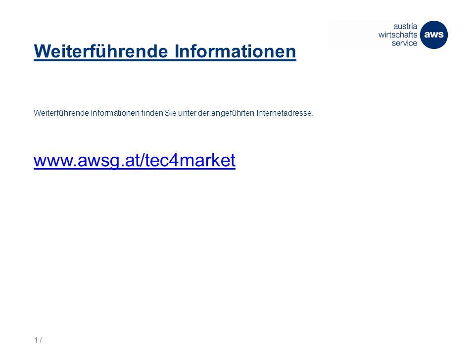 Weiterführende Informationen Weiterführende Informationen finden Sie unter der angeführten Internetadresse.