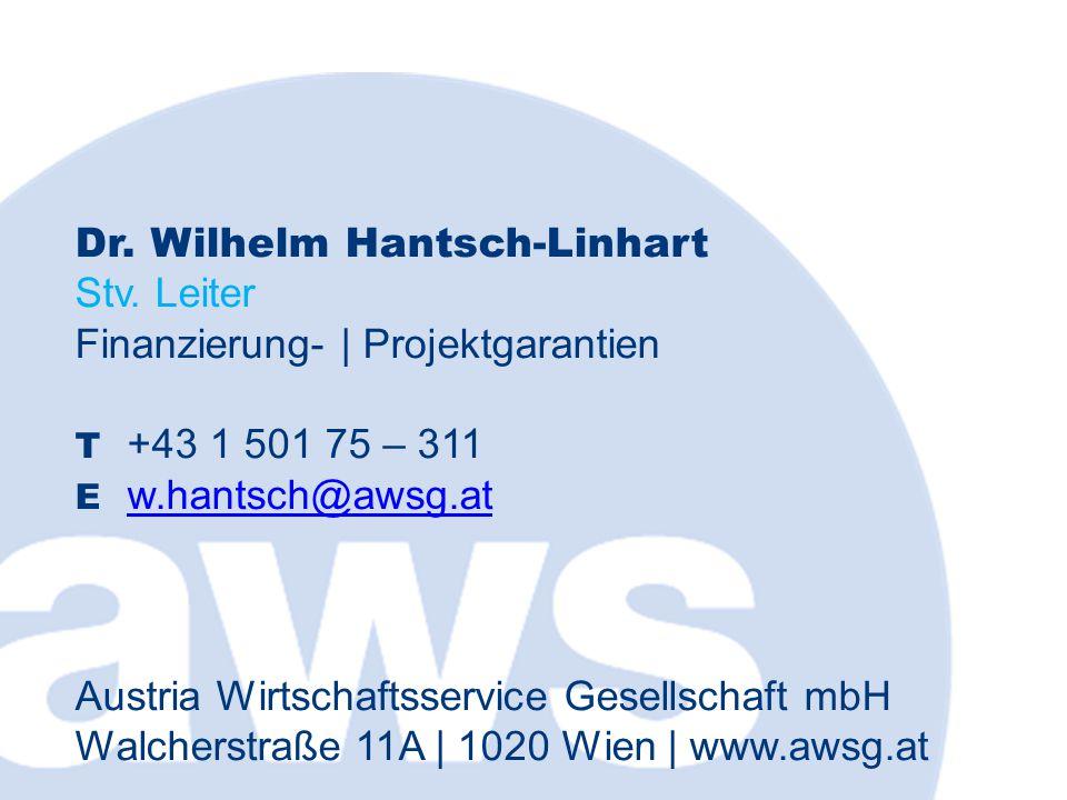 Dr. Wilhelm Hantsch-Linhart Stv.