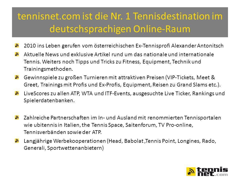 Partner von tennisnet.com Tennis Point: DER Online Shop Nummer 1 in Deutschland, Österreich und der Schweiz Saitenforum.de: DAS Materialforum zum Thema Racketsport tvpro-online.de: DIE Plattform für Turnierveranstalter und Spieler Eurosport: Der europäische NR.