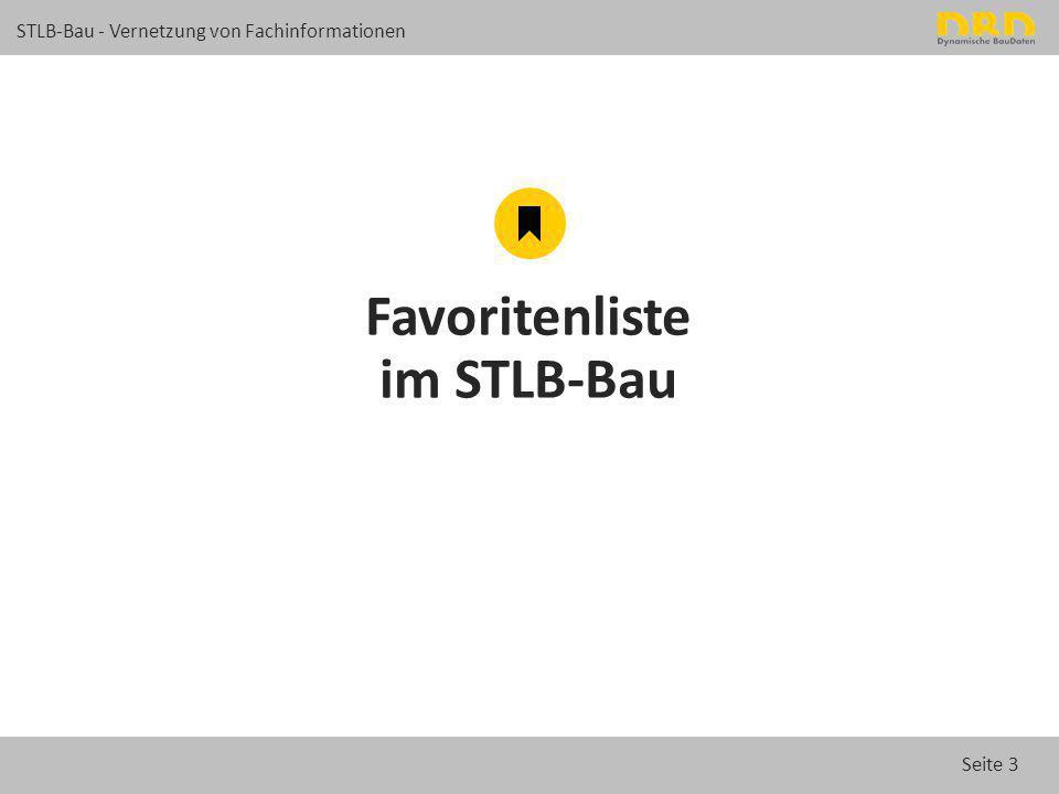 Seite 14 STLB-Bau - Vernetzung von Fachinformationen Neue Online-Detail-Suche im STLB-Bau Suchergebnis im Katalog Kombination von mehreren Suchbegriffen: Montage 56 db Q3