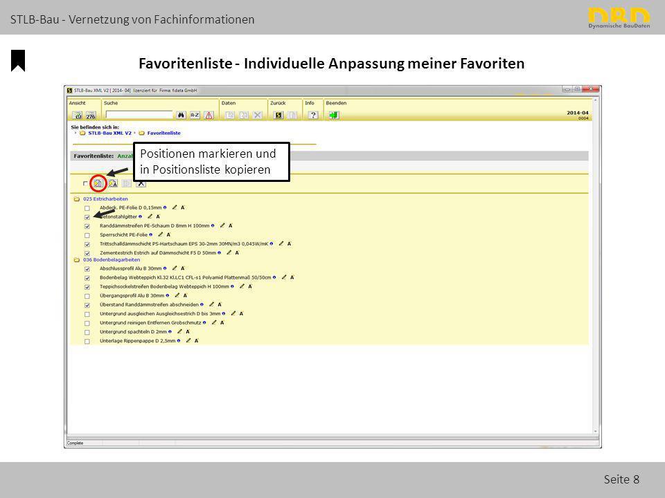 Seite 19 STLB-Bau - Vernetzung von Fachinformationen FAQ im STLB-Bau Neue Online-Detail-Suche im STLB-Bau durchsucht auch FAQ.