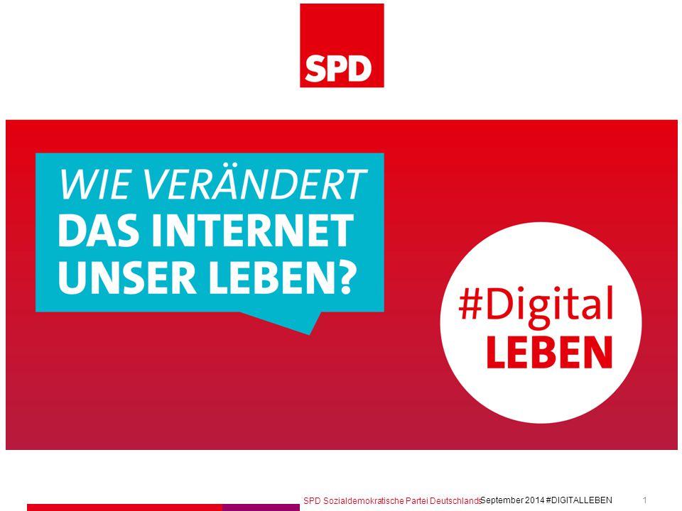SPD Sozialdemokratische Partei Deutschlands #DIGITALLEBEN September 2014 12 phase 1 –Einsammeln September 2014 – Februar 2015 Wir stellen Fragen und sammeln Impulse ein.