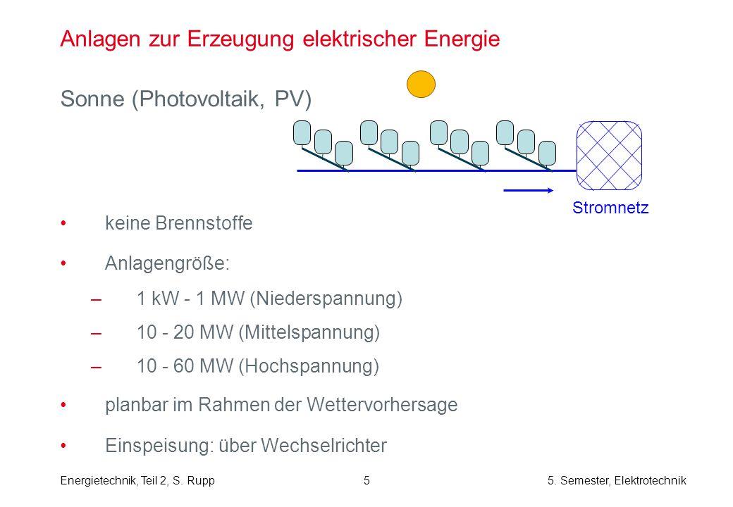 Energietechnik, Teil 2, S. Rupp5. Semester, Elektrotechnik 16 Struktur der Mittelspannungsnetze