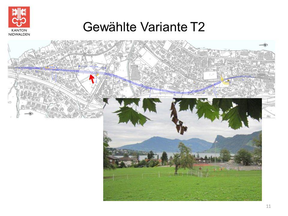 Gewählte Variante T2 11