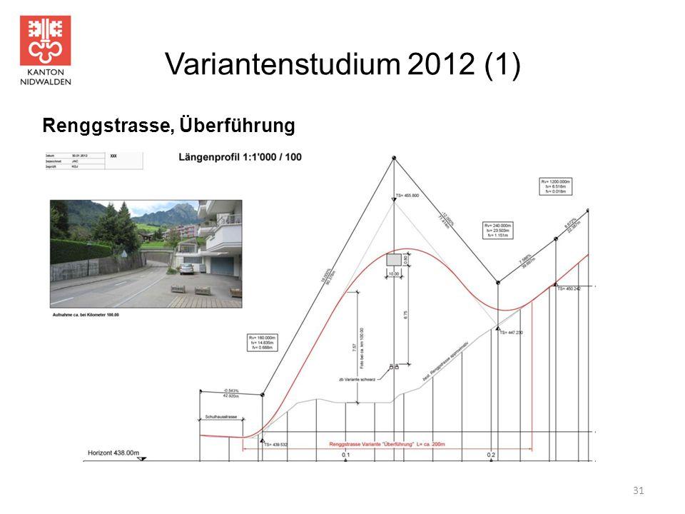 Variantenstudium 2012 (1) 31 Renggstrasse, Überführung