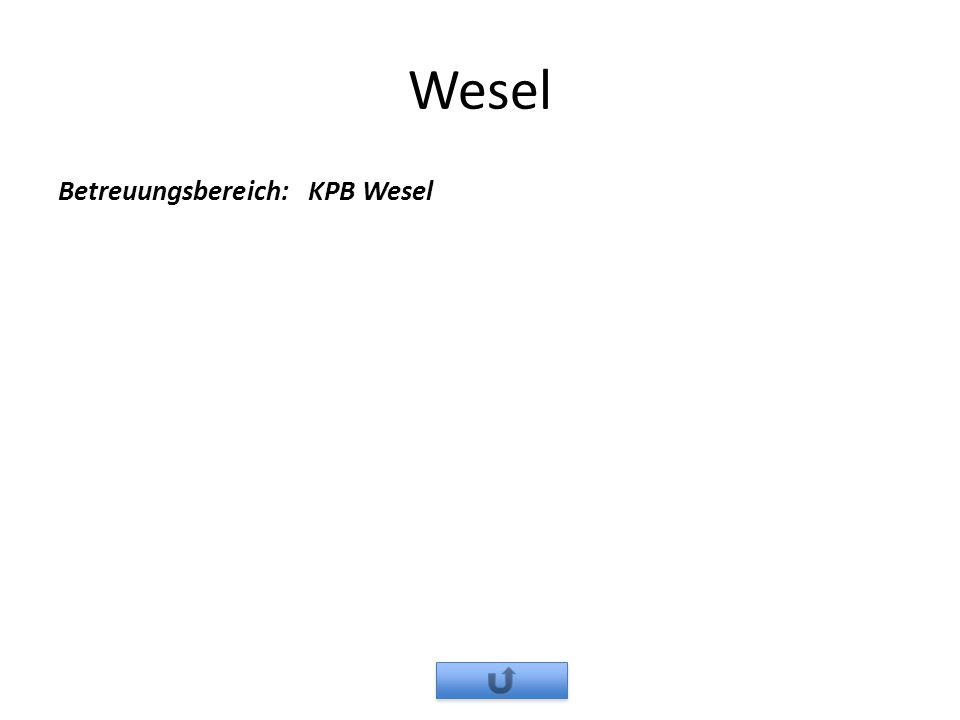 Wesel Betreuungsbereich: KPB Wesel