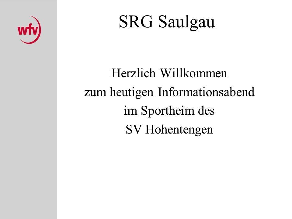 Die SRG Saulgau im Bezirk Donau Anzahl der Vereine: –42 Vereine Anzahl der SR –ges.