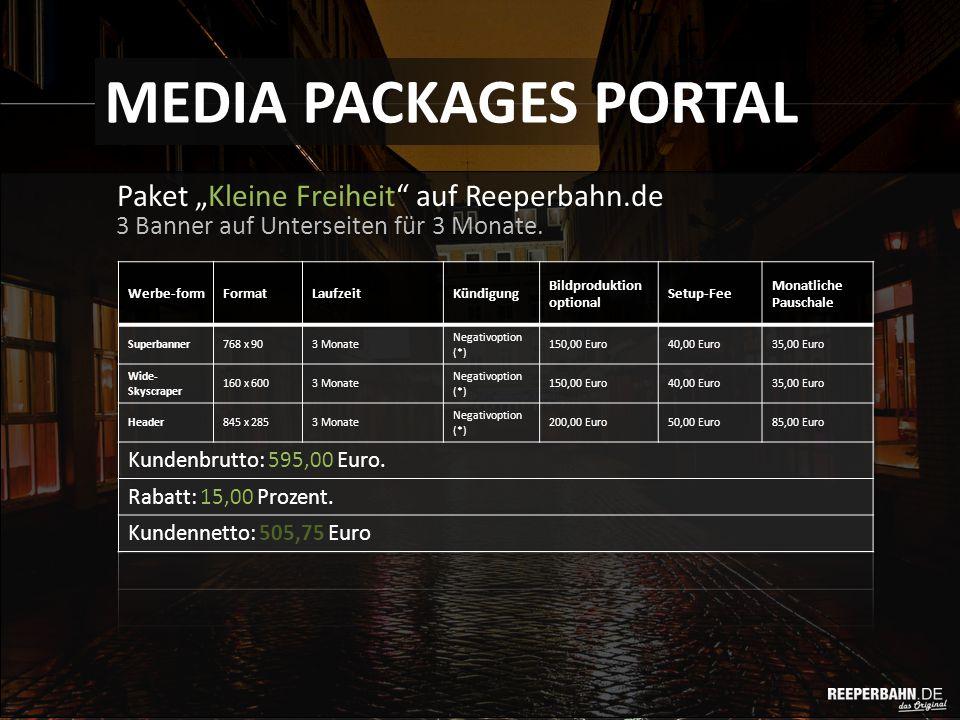 """Paket """"Kleine Freiheit auf Reeperbahn.de MEDIA PACKAGES PORTAL 3 Banner auf Unterseiten für 3 Monate."""