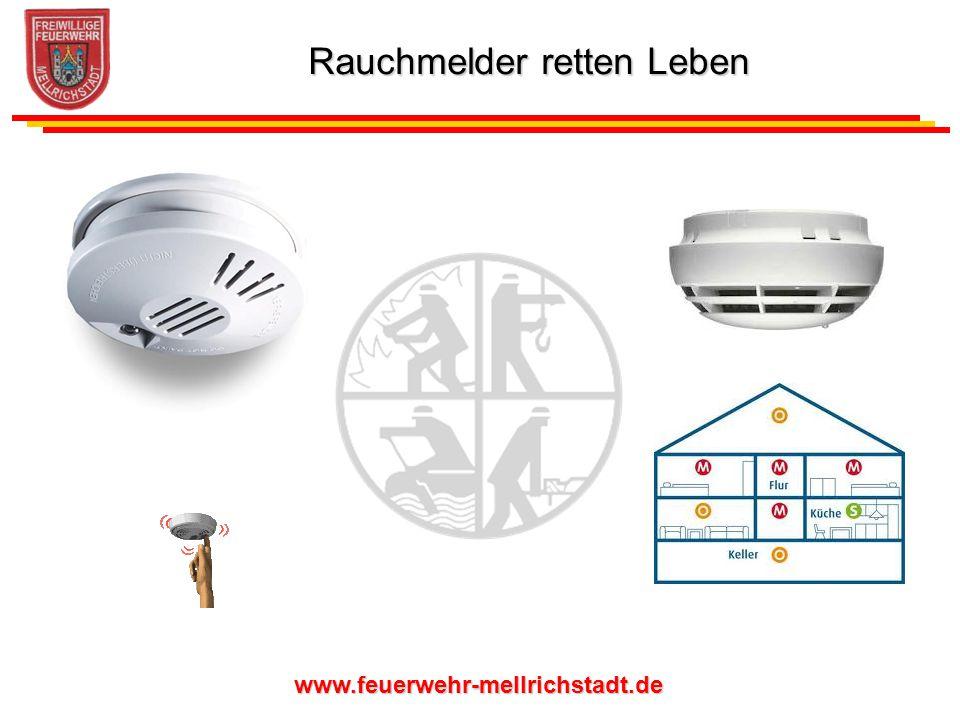 www.feuerwehr-mellrichstadt.de Besonders gut eignet sich der netzbetriebene Rauchmelder für Neu- und Ausbau sowie bei Modernisierungen von Wohn- und Geschäftsräumen.