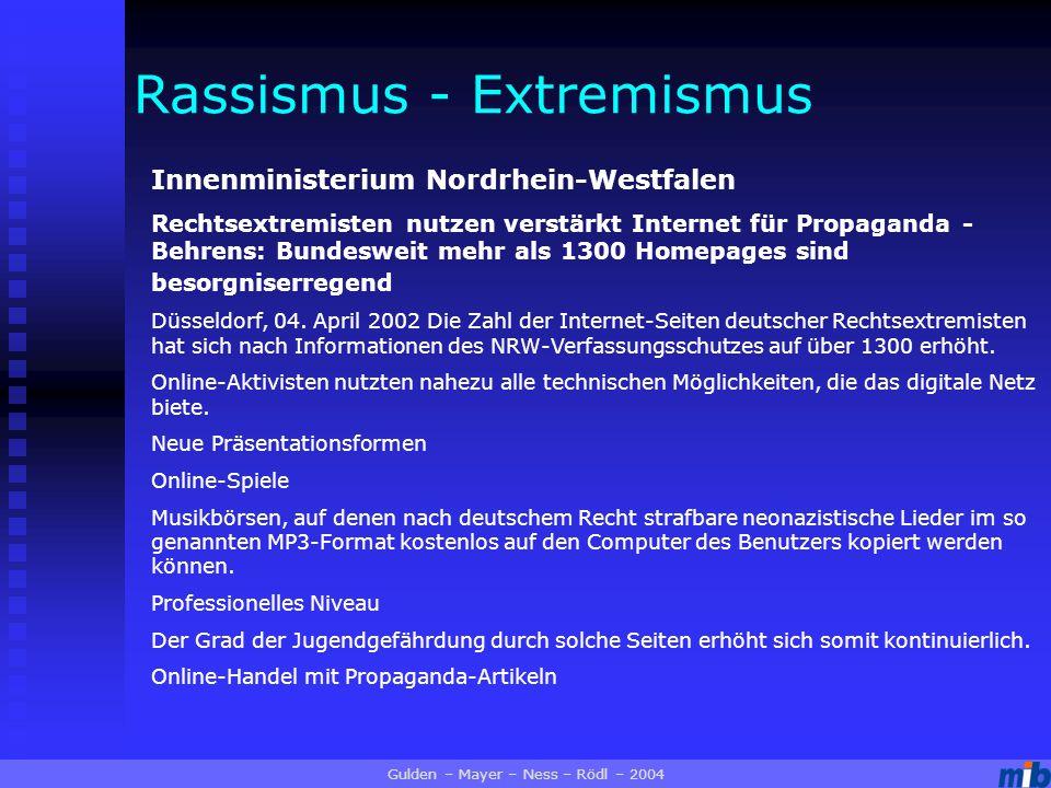Innenministerium Nordrhein-Westfalen Rechtsextremisten nutzen verstärkt Internet für Propaganda - Behrens: Bundesweit mehr als 1300 Homepages sind besorgniserregend Düsseldorf, 04.