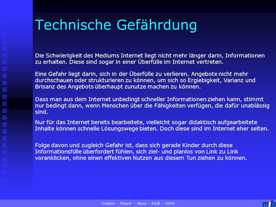 Die Schwierigkeit des Mediums Internet liegt nicht mehr länger darin, Informationen zu erhalten.