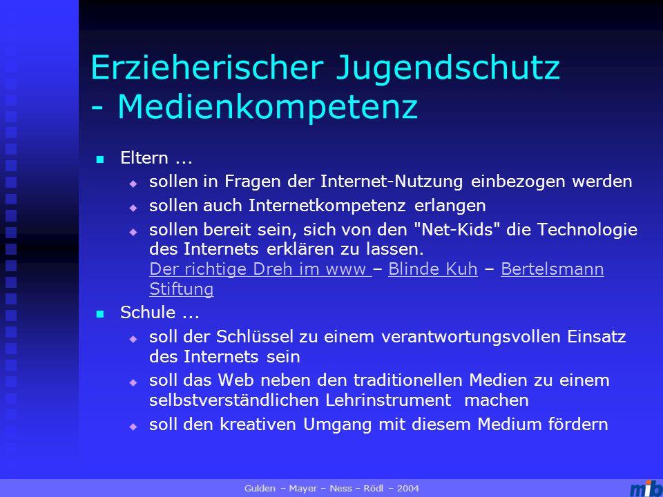 Erzieherischer Jugendschutz - Medienkompetenz Eltern...