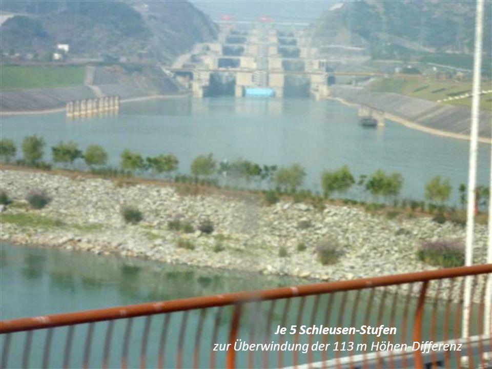 Der 3-Schluchten-Damm im Jahre 2009