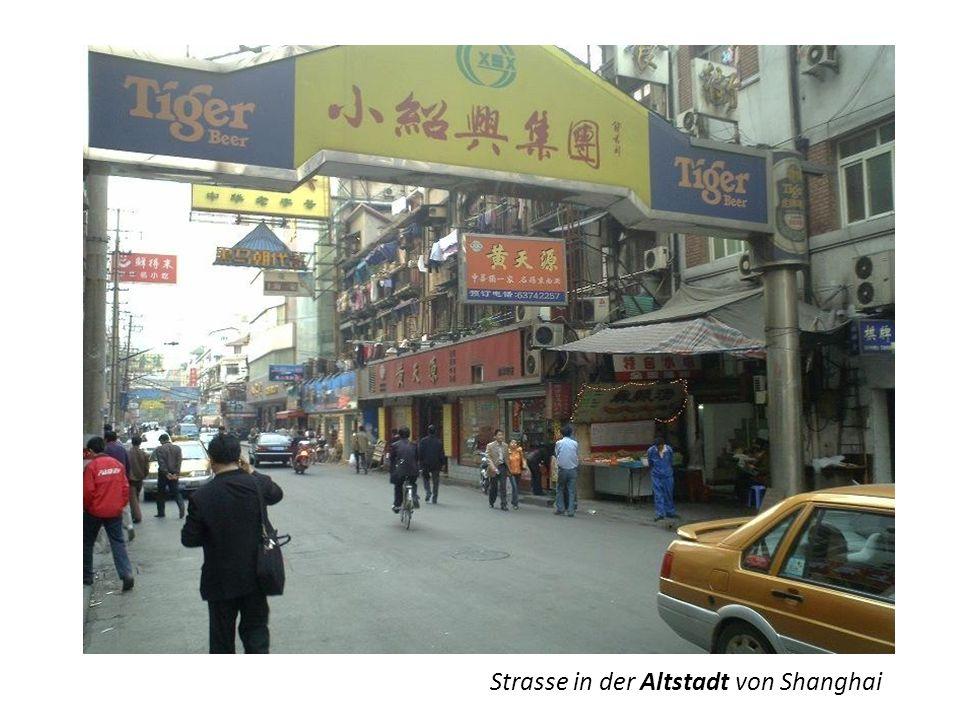 renoviertes Altstadt-Quartier SHANGHAI früher