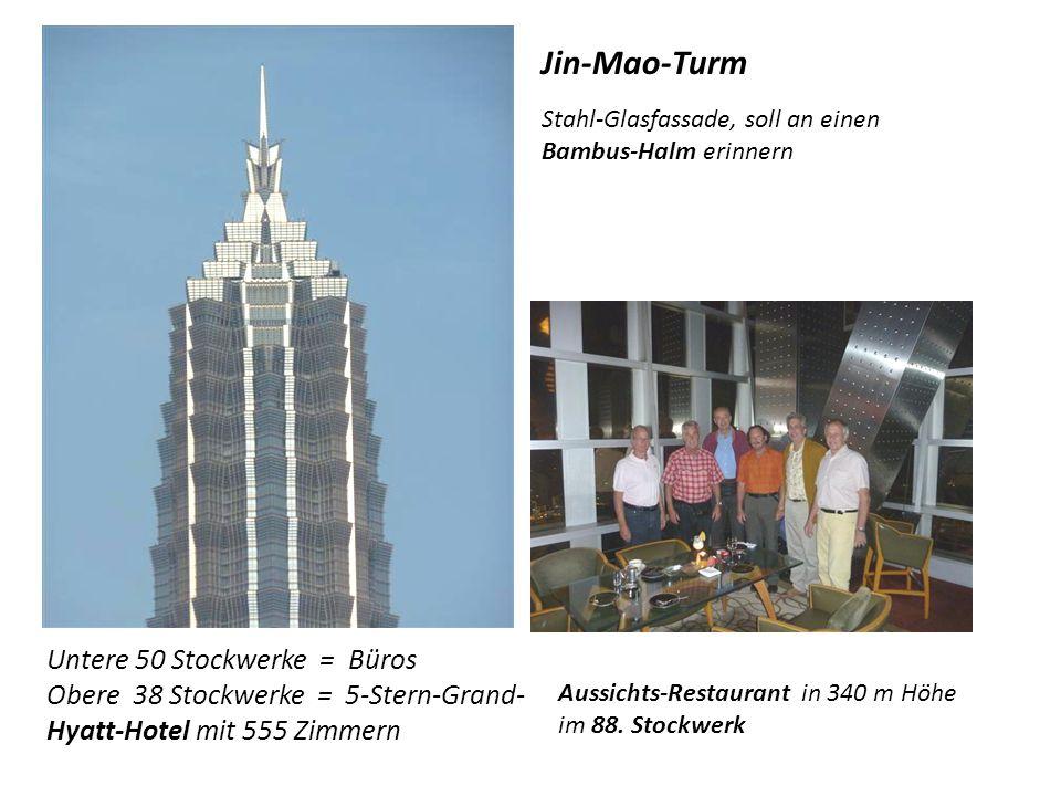 Shanghai World Financial Center bei Tag... …und bei Nacht