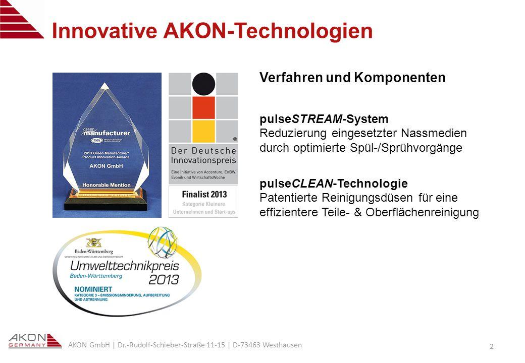 AKON GmbH | Dr.-Rudolf-Schieber-Straße 11-15 | D-73463 Westhausen 13 Vergleiche aus laufender Produktion